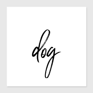 Post poster dog - Poster 40x40 cm