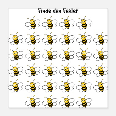 Puzzle Puzzle troubleshooting with bees - Poster 40x40 cm