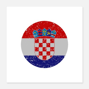 Patriot Croatia - Poster 40x40 cm