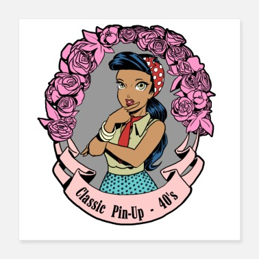 Pin Pin Up Classic - Juliste 40 x 40 cm