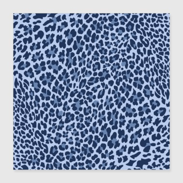 LEOPARD-sarja BLUE, ANIMALPRINT - Juliste 40 x 40 cm