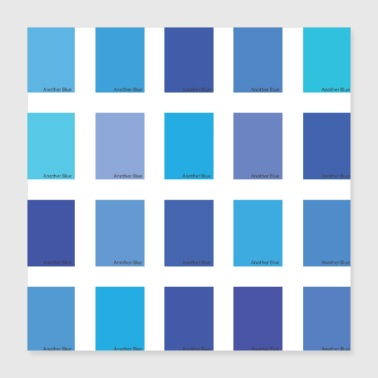 Another Blue Color Picker - Poster 40x40 cm