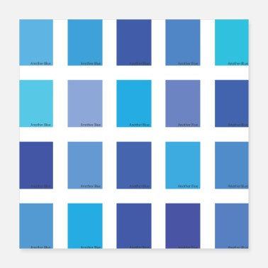 Marine Nog een Blue Color Picker - Poster 40x40 cm
