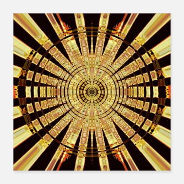Cercle Cercle d'or - Poster 40 x 40 cm