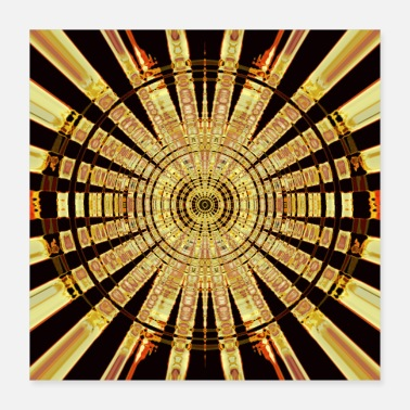 Or Cercle d'or - Poster 40 x 40 cm