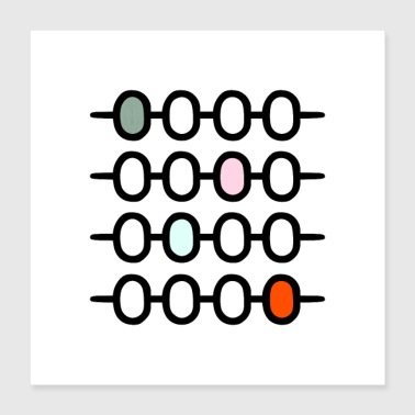 AFFICHES ABACUS - Poster 40 x 40 cm