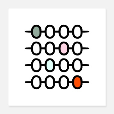 Awesome AFFICHES ABACUS - Poster 40 x 40 cm