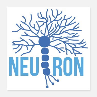 Freak Bello neurone cerebrale blu - Poster 40x40 cm