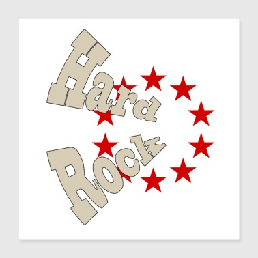 Hard rock - Juliste 40 x 40 cm