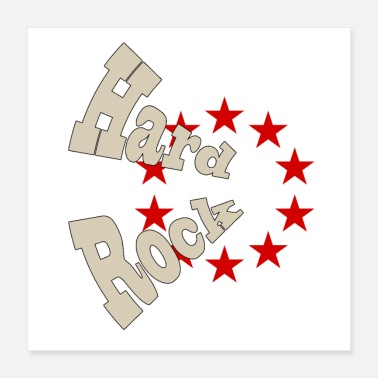 Rock N Roll Hard rock - Poster 40 x 40 cm