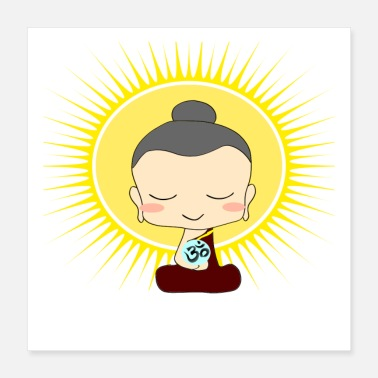 Expression Anime Buddha - Poster 40x40 cm