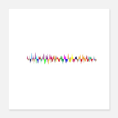 Audio Soundwave - Poster 40x40 cm
