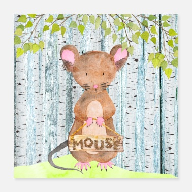 Little Mouse Animal friends in the forest - The little mouse - Poster