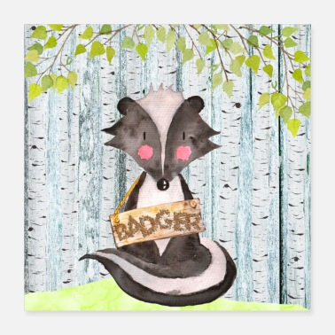 Badger Animal friends in the forest - The little badger - Poster