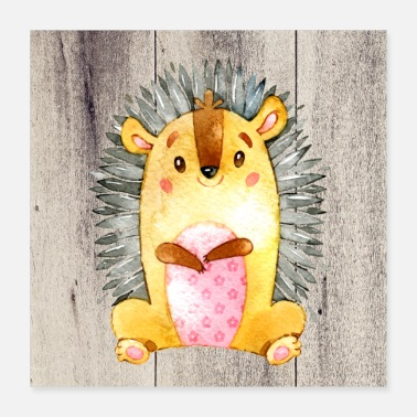 Friends Animal friends in the forest - The little hedgehog - Poster