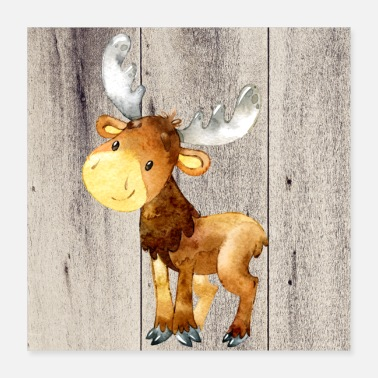Animal Animal friends in the forest - The little deer - Poster