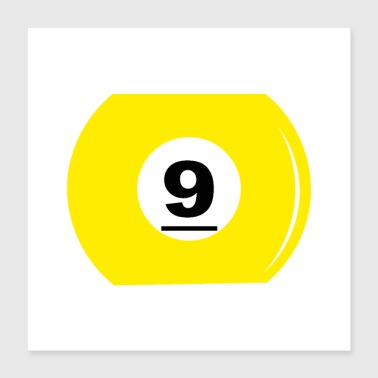 Number Billiard ball number 9 - Poster 40x40 cm