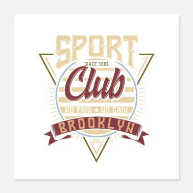Sport Automobile Sport Club Brooklyn Motorsport Design - Poster 40 x 40 cm