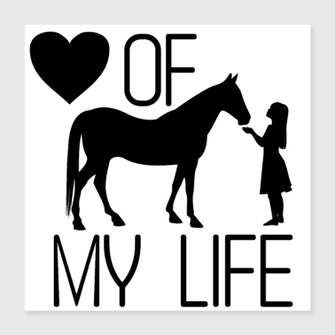Horse riding love - Poster 40x40 cm