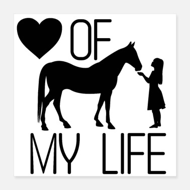 Mare Horse riding love - Poster 40x40 cm