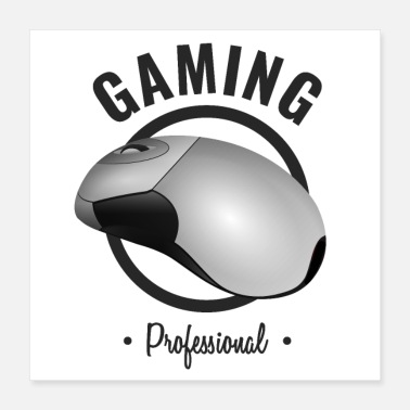 Pc GAMING PRO MAUS DESIGN PROFESSIONAL SCHWARZ - Poster 40x40 cm