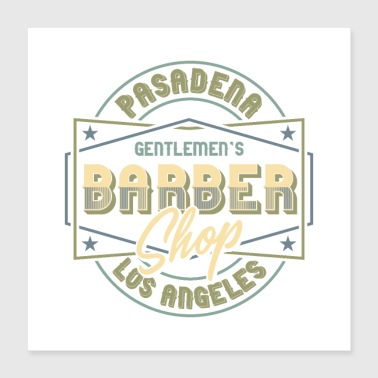 Gentlemen's Barber Shop Design - Poster 40 x 40 cm