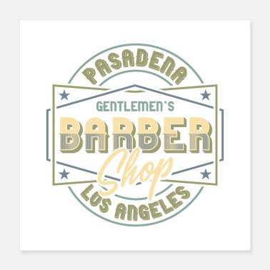 Shopping Gentlemen's Barber Shop Design - Poster 40x40 cm