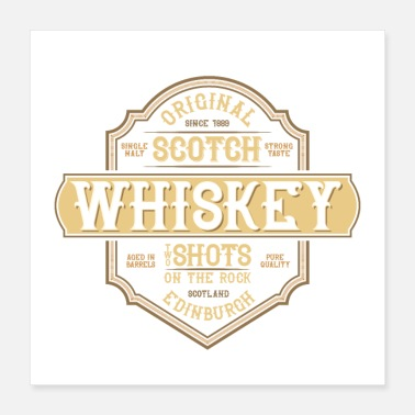 Festeggiare Scotch Whisky Shots Bere Design - Poster 40x40 cm