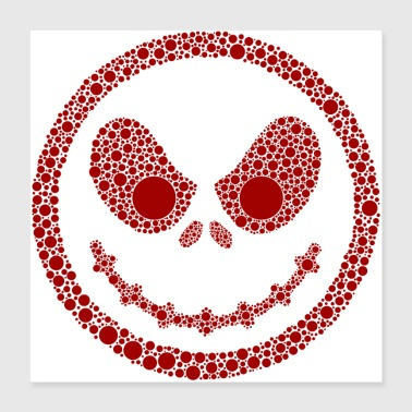 Red Dot Bad Smiley - Poster 40x40 cm