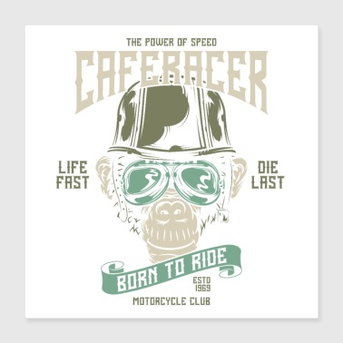 Born In Born to ride - Poster 40x40 cm