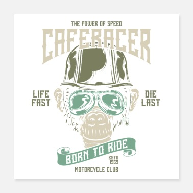 Schläger Born to ride - Poster 40x40 cm