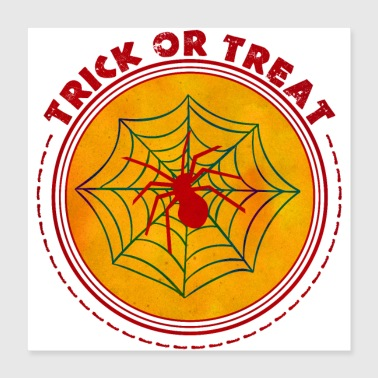 Halloween Trick or Treat Spider - Poster 40x40 cm