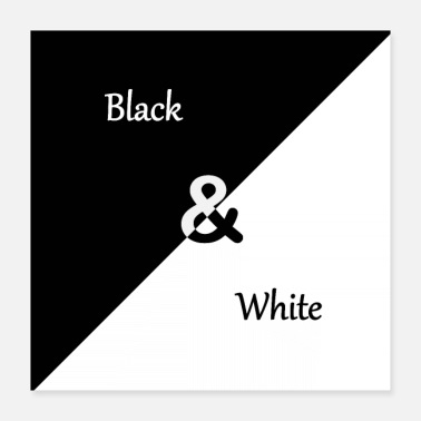Black And White Black-and-white - Poster