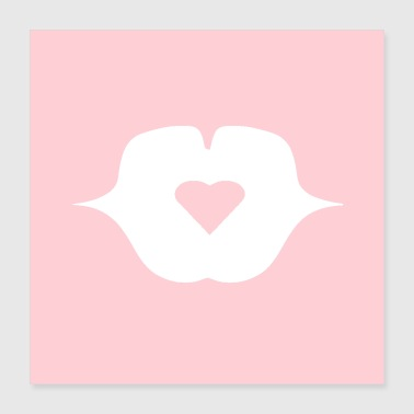 I Heart POSTER BISOU MY HEART - Poster 40x40 cm