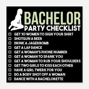 Respect Bachelor Party Checklist - JGA Bridegroom Rumble - Poster