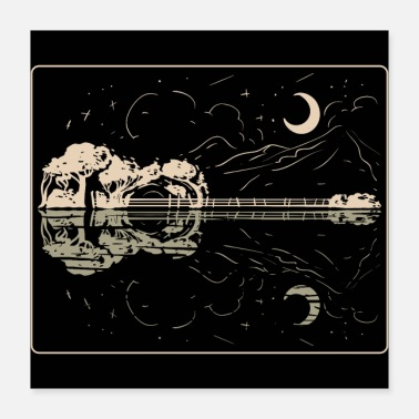 Instrument Guitar Lake Shadow - Music Instrument Musician Band - Poster