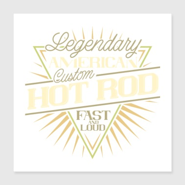 Legendary HOT ROD - Poster 40x40 cm