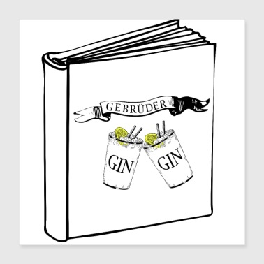 The stories of the Gin brothers - Poster 40x40 cm