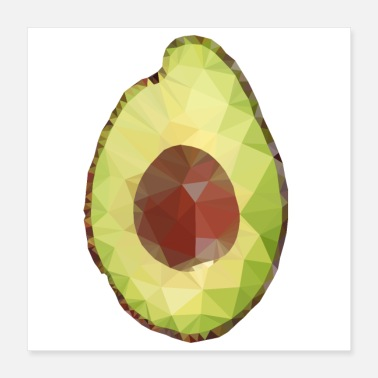 Optimism posters avocado low poly - Poster