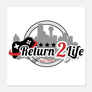 Pc Return2Life-logoen - Poster 40x40 cm