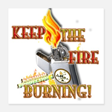 Emblem Keep the fire burning (Kansidah) - Poster 40x40 cm