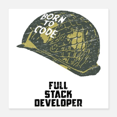 Program-what-you-do Coders - Born to code - Full Stack developer grunge - Poster