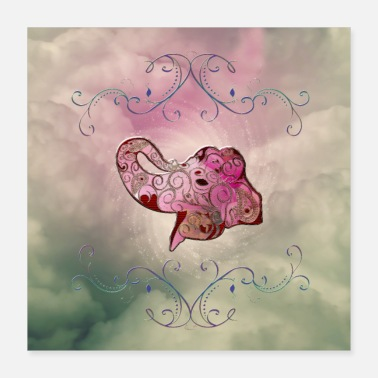Decoration Beautiful decorative elephant - Poster 40x40 cm