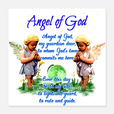 Angel Angel of God - Poster 40x40 cm