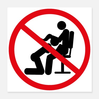 Prohibited No sex at work - Poster 40x40 cm