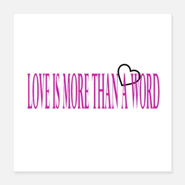 Cupid Love is more than a word - Poster 40x40 cm