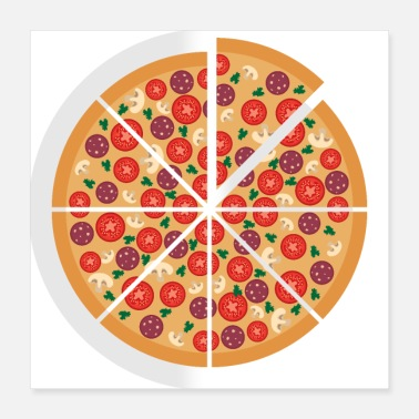Pizza pizza - Poster 40 x 40 cm