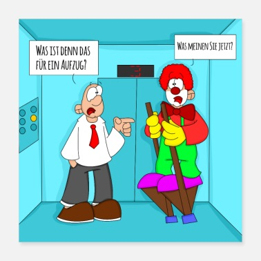 Lift Lift clown cartoon - Poster