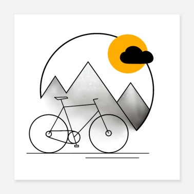 Tour Bike Tour - Bike ride around the world - Poster 40x40 cm