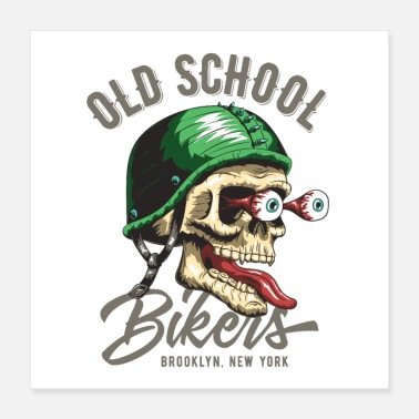 Chopper Koel T-shirt Oude School - Poster